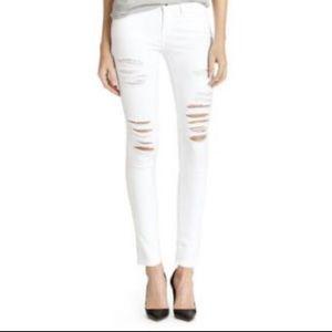 FRAME ripped white Le Skinny de Jeanne
